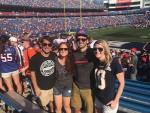 Brendan Jessica, Lawrence and Jessica At Buffalo Bills Game