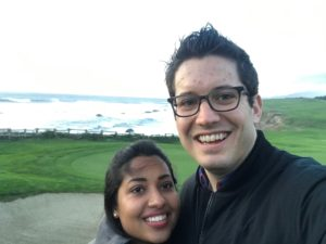 Evan and Teesha in their new city SFO